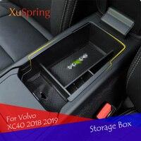 콘솔 자동차 팔걸이 중앙 스토리지 박스 컨테이너 장갑 주최자 케이스 액세서리 Volvo XC40 2018 2019