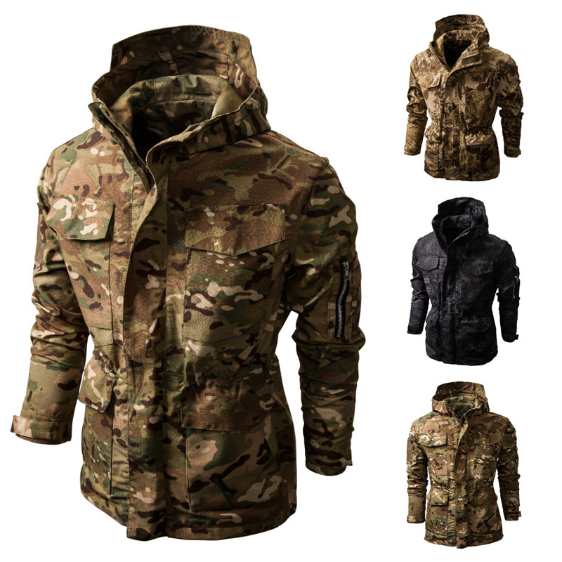 Mens Jackets New Waterproofing Camo Outdoor-style All-purpose Tactical Hooded Jacket