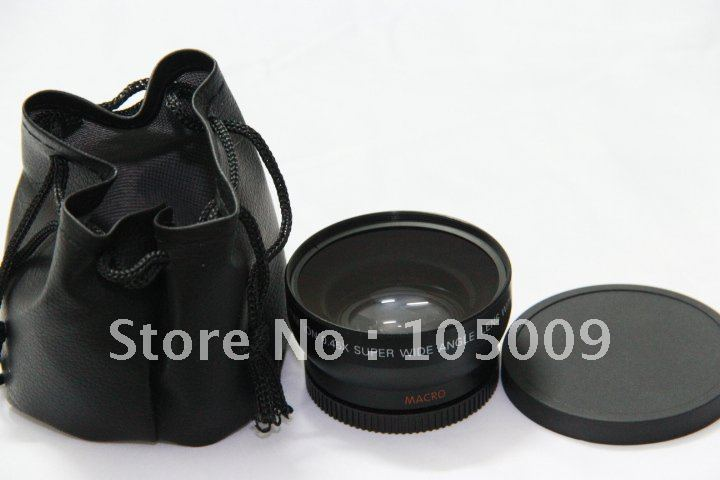 52mm 0.45X Wide Angle Lens with Macro lens for canon NIKON D3000 D5000 D40 D60 D3000 pentax fuji sony camera image
