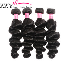 ZZY Fashion Brazilian Hair Weave Loose Deep Wave Bundles Natural Black 4 Pieces Human Hair Bundles Non Remy Hair Extensions(China)