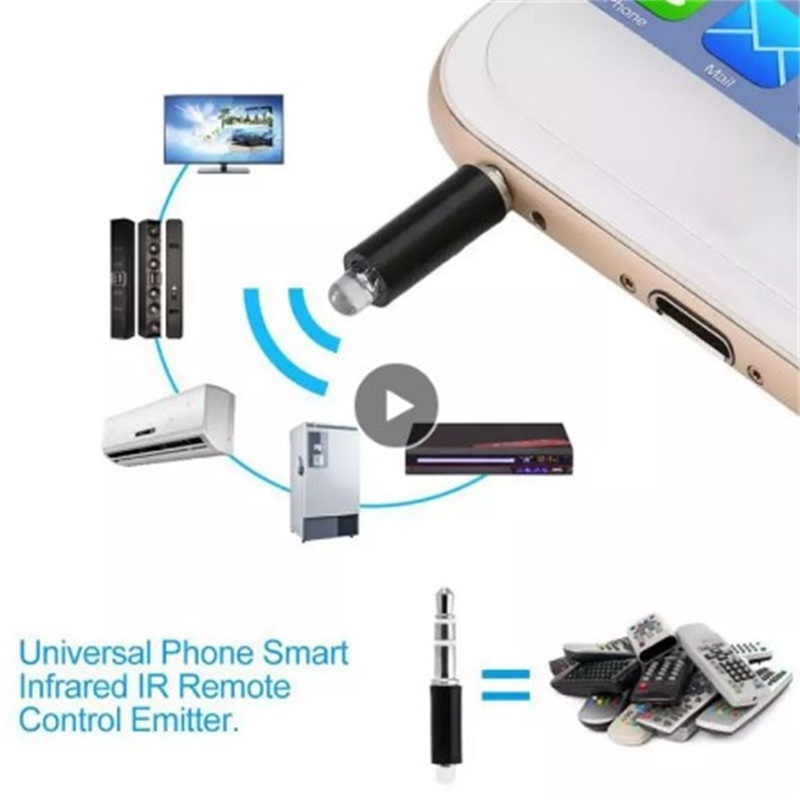 Mobile Phone Remote Control Infrared Transmitter Wireless 3.5mm Plug Mini Universal Durable TV Air Conditioner Home Appliances