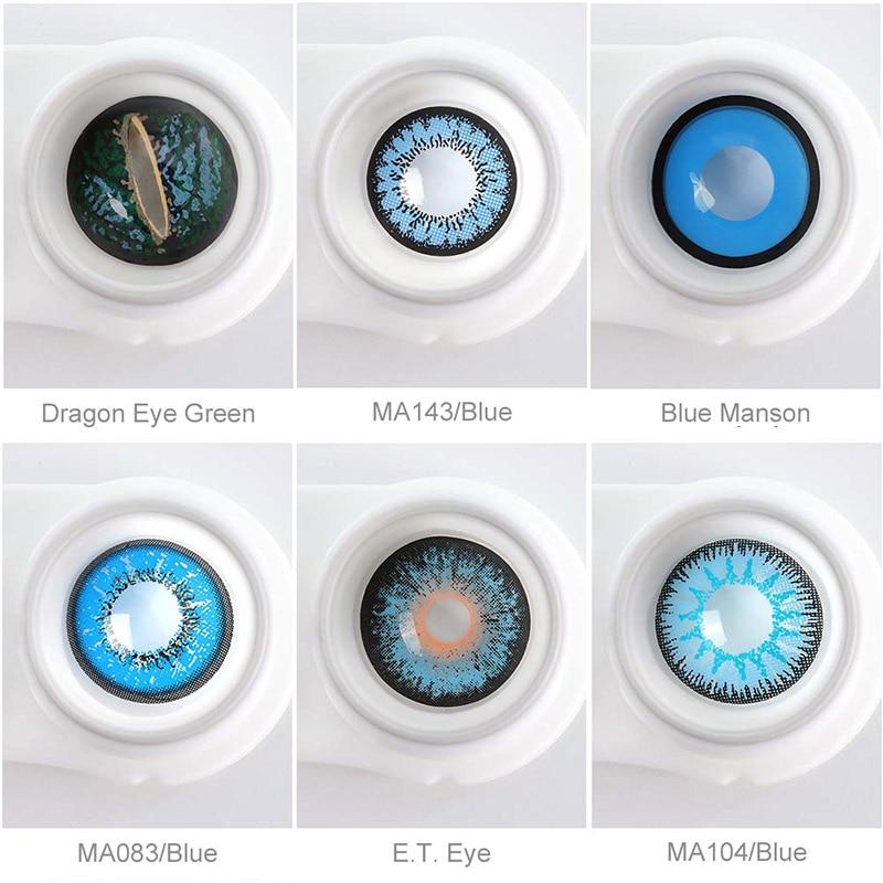 Цветные контактные линзы для косплея глаз Хэллоуина цветные контактные линзы ed красного цвета контакты глаз с цветными линзами синие
