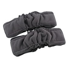 10Pcs Reusable Insert Baby Cloth Diaper Mat Nappy Inserts Bamboo Charcoal Microfiber 4 Layers Changing Nappy Liners
