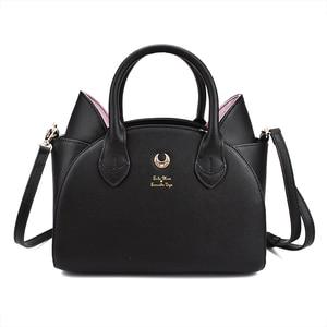 Image 1 - MSMO Sailor Moon Bag Samantha Vega Luna Women Handbag 20th Anniversary Cat Ear Shoulder bag Hand Bag