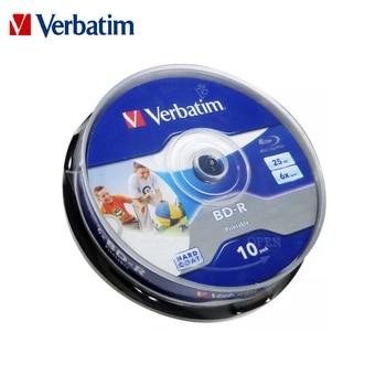 Original Verbatim 6X Blu-ray BD-R 25GB Blank Disc Recordable Media Unprintable Lots Blue Ray Disk Compact Storage blu ray player 1
