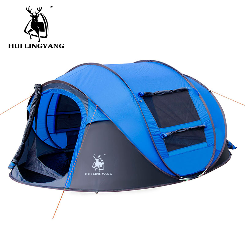 HUILINGYANG camping tent Large space3-4persons automatic speed open throwing pop up windproof camping family tent otomatik çadır