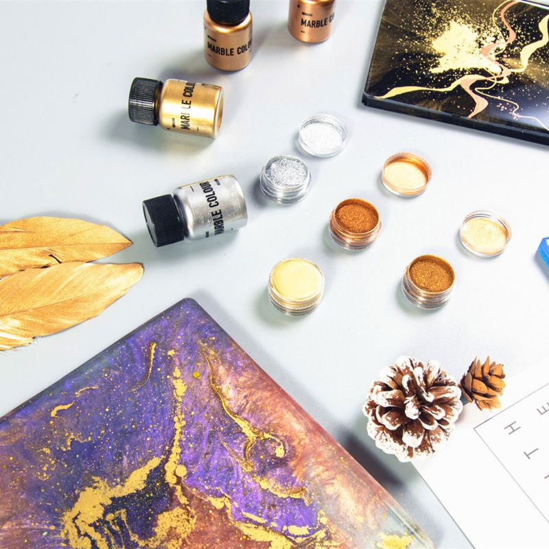 15-25g Mirror Metal Texture Pearl Powder Epoxy Resin Colorant Glitter Marble Metallic Pigment Resin Dye Jewelry Making Crafts