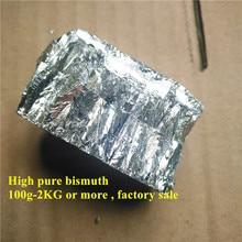 100 г-1 кг висмута металлический слиток висмута высокий чистый металл для изготовления кристаллов висмута