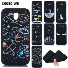 CHOEOIWE Phone Cases for Samsung Galaxy J330 J3 Pro J530 J5 2017 J7 Pro European Version Soft Silicone Case Cartoon Black Cover(China)