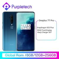 2019 OnePlus 7T Pro mundial ROM Snapdragon 855 8GB 256GB 6,67 ''líquido AMOLED 90Hz pantalla 48MP Triple Cam 4085mA