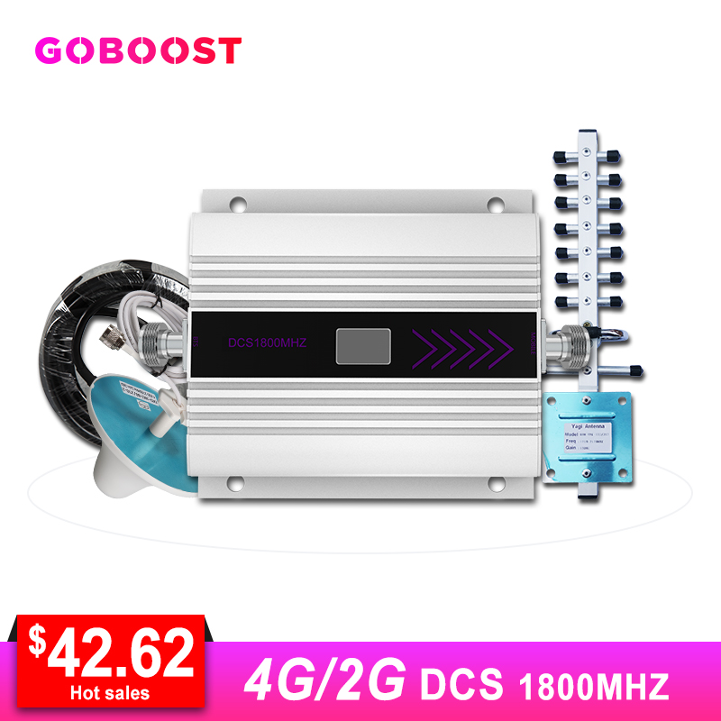 LTE 4G Signal Booster GSM 1800 Cellular Signal Booster Signal For Mobile Phones 4G Repeater DCS Band3 LCD Dispaly Antenna Kit #