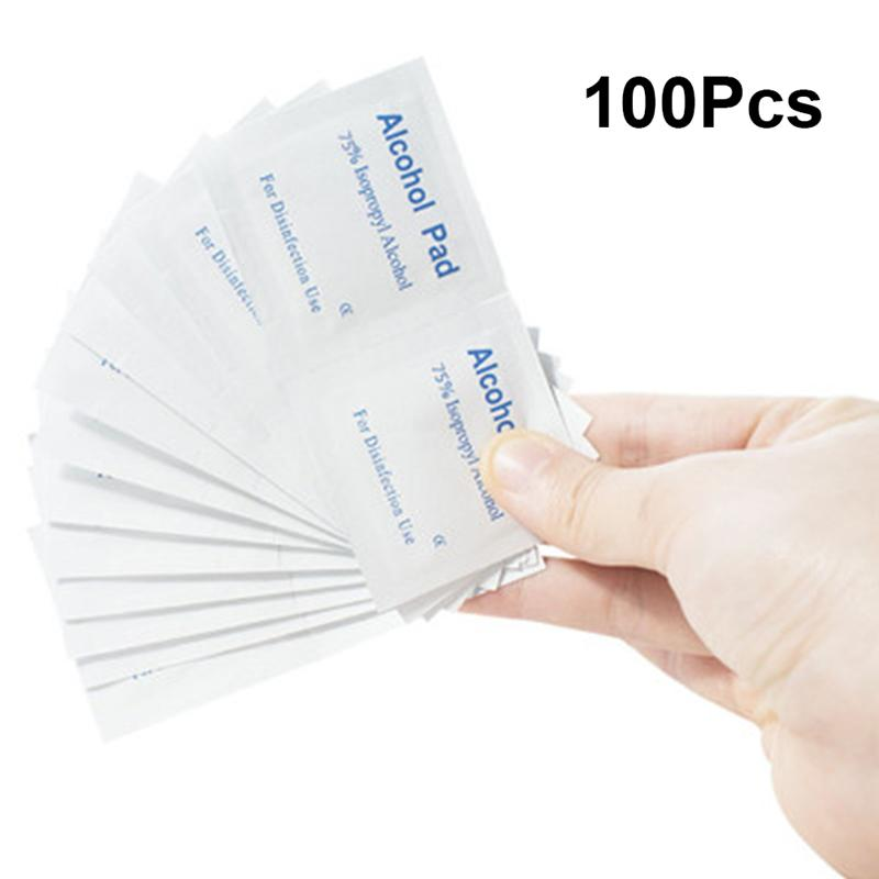 100pcs Disposable Cleaning Tissue Nonwoven Wet Wipes Sterilization Pads Disinfection Tablets For Home Travel