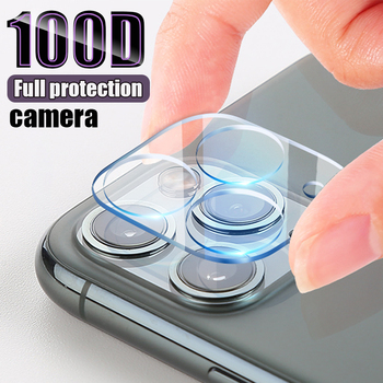 100D Camera Protection Glass For iPhone 11 Pro XS Max XR X Full Cover Lens Screen Protector For 7 8 Plus Tempered Glass Film