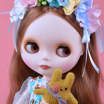 Neo Blyth Doll NBL Customized Shiny Face,1/6 BJD Ball Jointed Doll Ob24 Doll Blyth for Girl, Toys for Children [wamami] for 12 neo blyth doll 7 joints purple short wig matte face