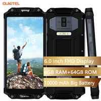 "OUKITEL WP2 IP68 Wasserdicht Staub Shock Proof Handy 4G RAM 64G ROM Octa Core 6,0 ""10000 mAh Fingerprint Smartphone phablet"