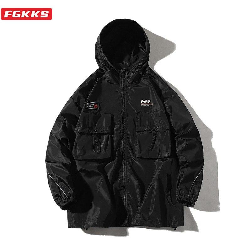 FGKKS Brand Men Fashion Jackets Spring New Men's Casual Hip Hop Outerwear Streetwear Comfortable Wild Jacket Coats Male