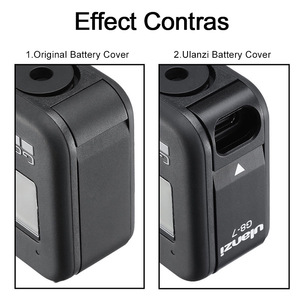 Image 4 - Metal Battery Cover Rechargeable Side Cover Lid Type C Charging Port Adapter For Gopro Hero 8 Action Camera Accessories