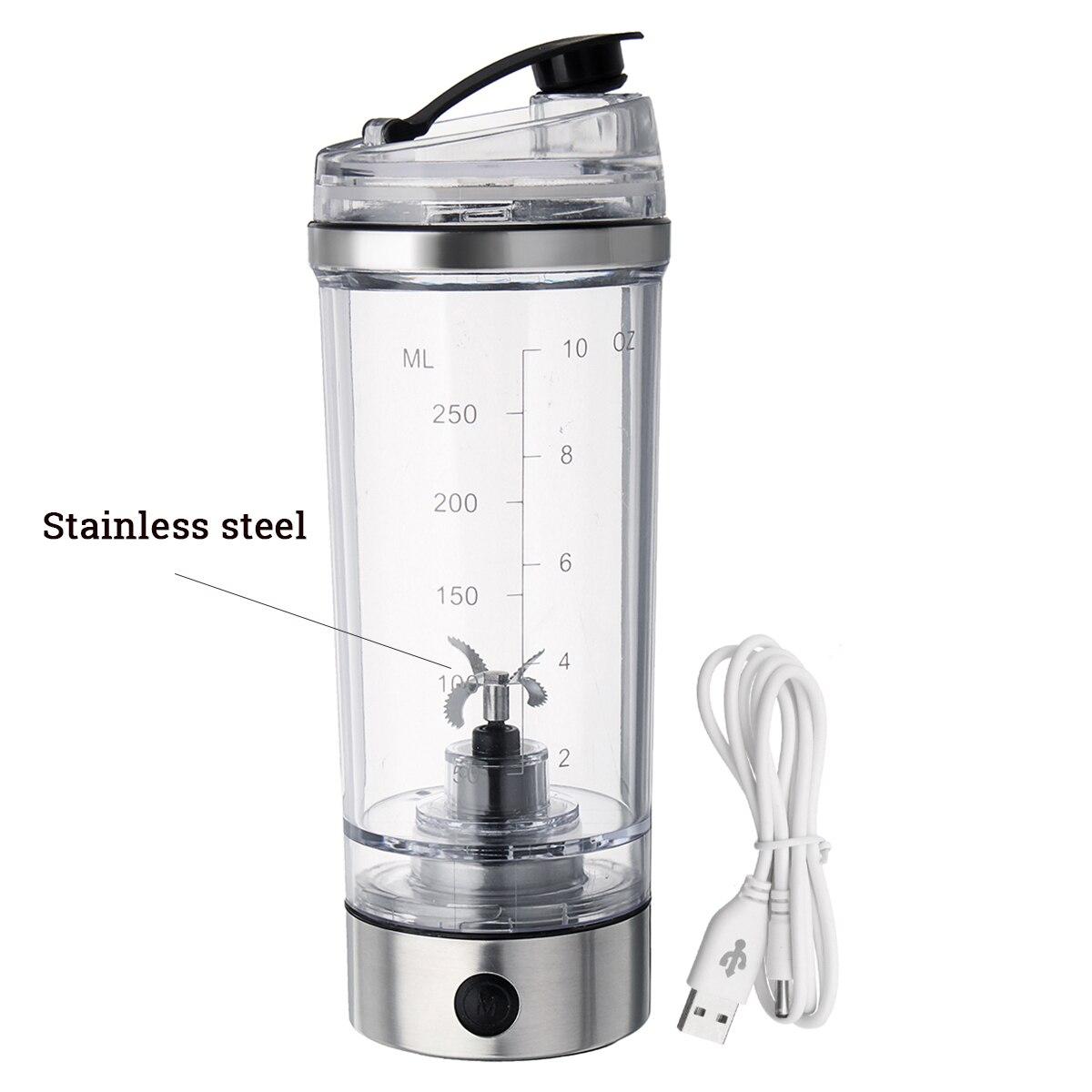 Hc048094527ea40238be04cb0c55530bdJ 2019 250ML Electric Protein Shake Stirrer USB Shake Bottle Milk Coffee Blender Kettle Fitness Vortex Tornado Smart Mixer