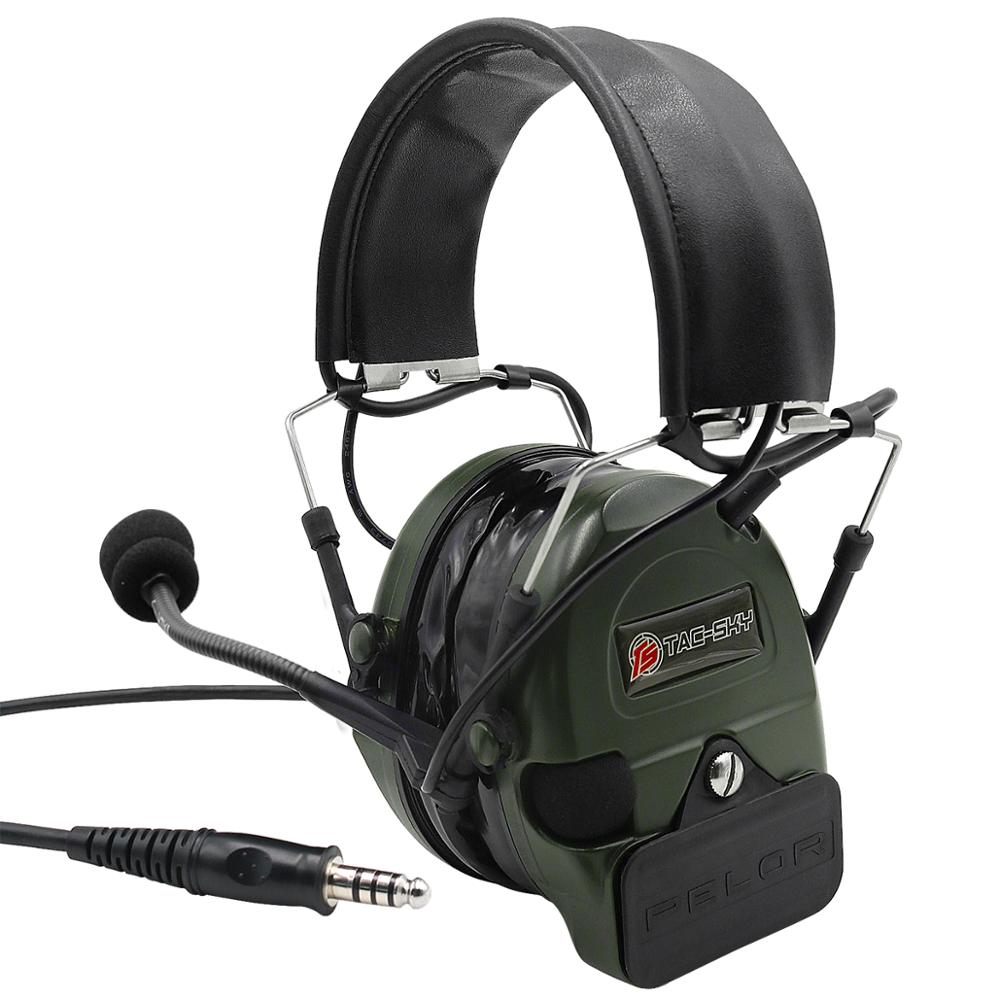 TAC SKY COMTAC I Silicone earmuff version Noise reduction pickup headset FG