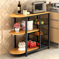 Dining table Kitchen Storage Shelf Storage Shelf Microwave Stand Multi layer shelves Multifunctional shelving saves space