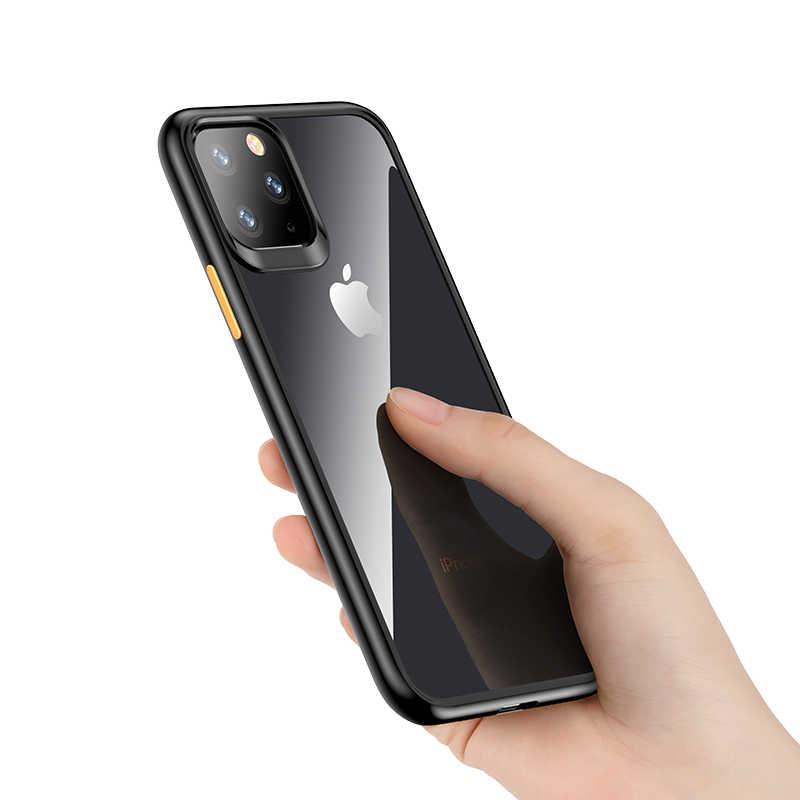 Para Apple iPhone 11 2019 Case, Rock Mil-Grade funda certificada con parachoques a prueba de golpes Anti-rasguño cubierta negra helada