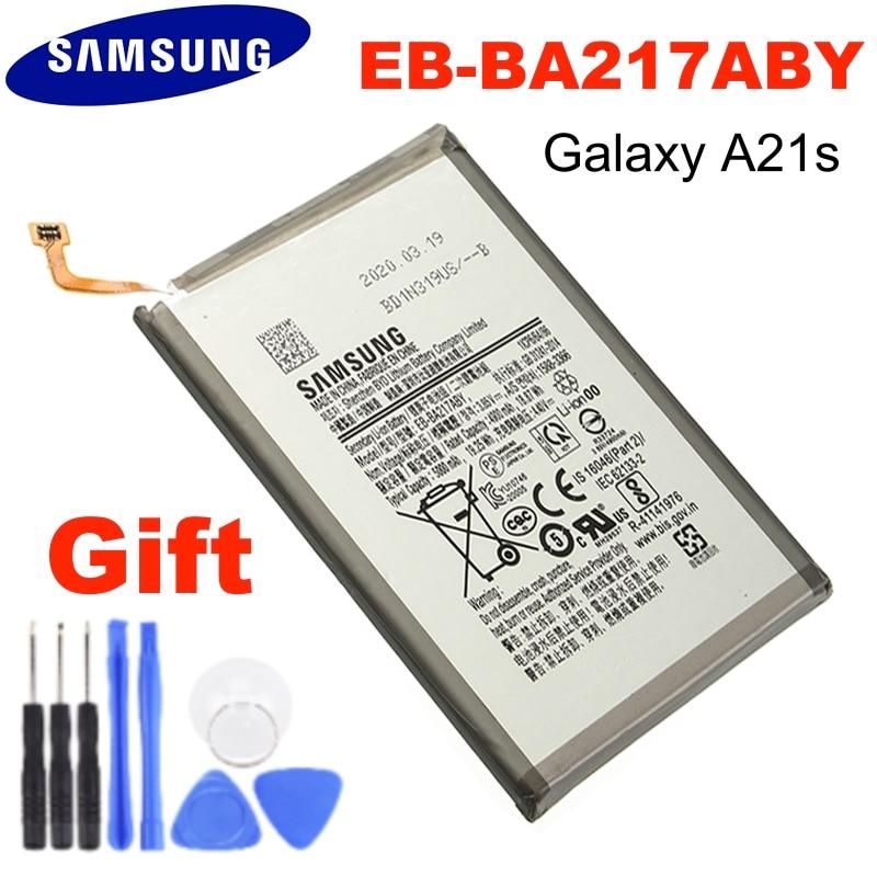 Bateria original EB-BA217ABY da substituição de samsung para samsung galaxy a21s SM-A217F/ds SM-A217M/ds SM-A217F/dsn 5000mah
