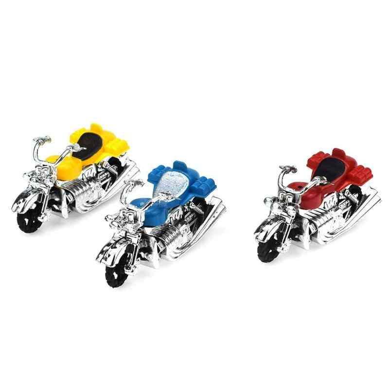 Dzieci motocykl wycofać zabawkowy model motocykl plastikowe zabawki edukacyjne dla dzieci Montessori rozwój kreatywność prezent