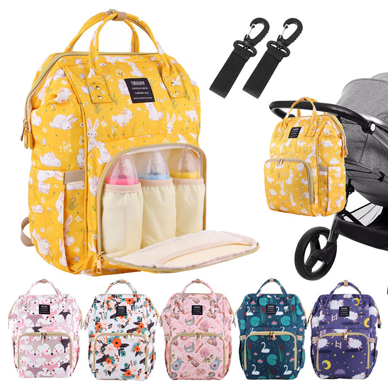 Diaper Bag Large Capacity Baby Bags Waterproof Maternity Bags Travel Mummy Backpack Nappy Bags Nursing Bag Wet Swan Mom Bags