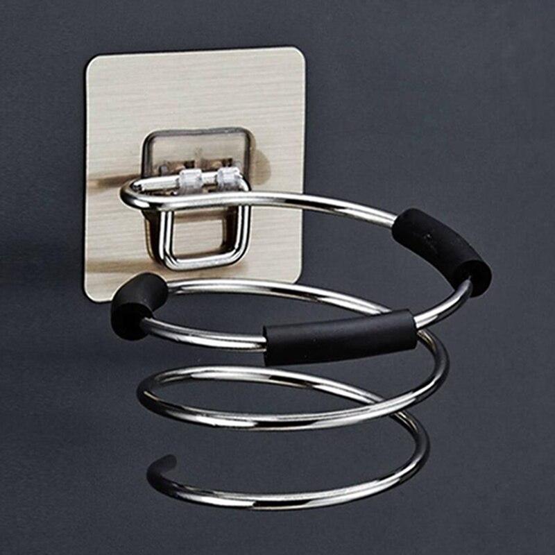 Stainless Steel Hairdryer Rack Holder Anti-rust Hair Dryer Rack Shelf Bathroom Accessories Hairdryer Storage Rack