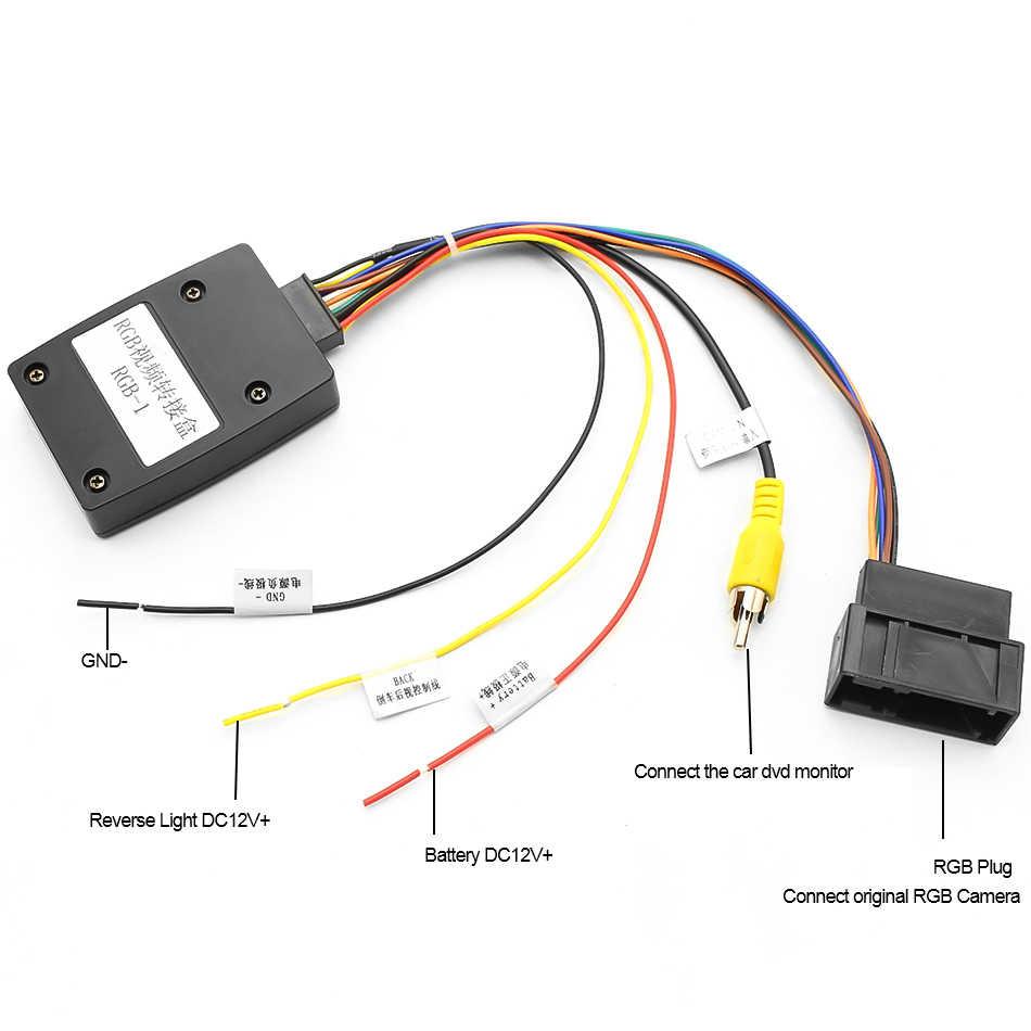 GreenYi 26 دبوس RGB إلى CVBS (RCA) AV محول إشارات محول لشركة فولكس فاجن الأصلي كاميرا الرؤية الخلفية لشركة فولكس فاجن باسات CC تيجوان أندرويد DVD