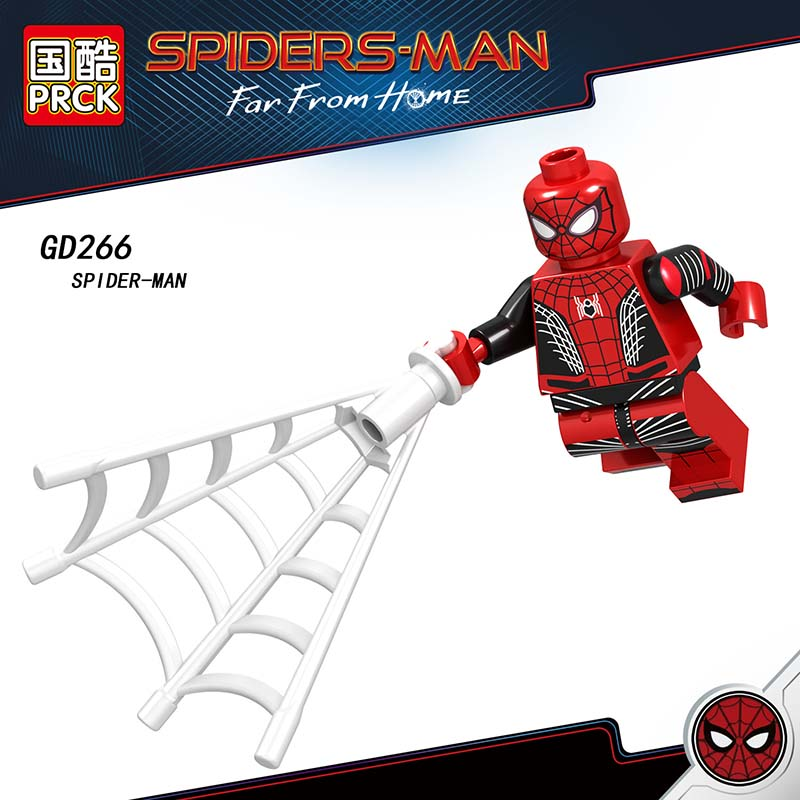 Single Sale Compatible LegoINGlys Super Heroes Spider-Man 2 Far From Home Mini Figure Hydro-man Mysterio Blocks Toys Kids Gift