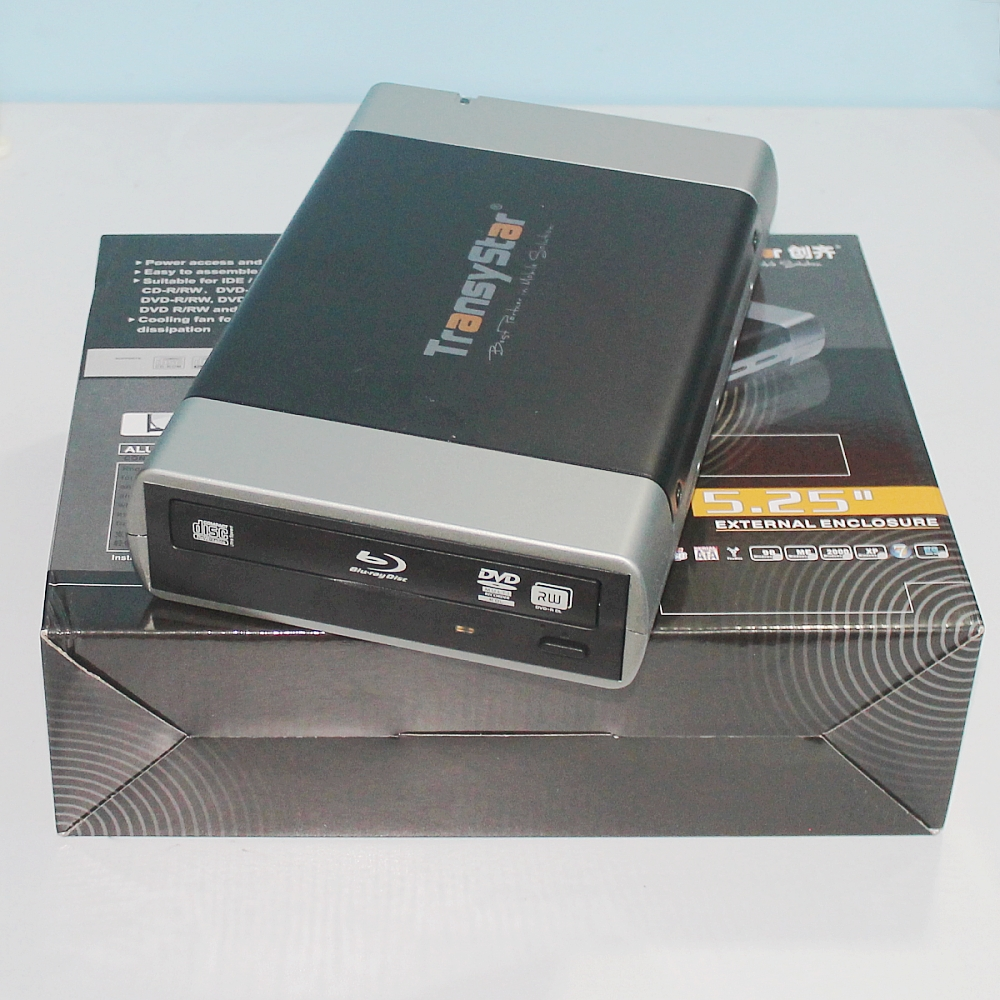 """External Alloy Portable USB 3.0 And ESATA to SATA Enclosure Case For 5.25"""" CD DVD ROM Burner Writer BD DVD CD box Case