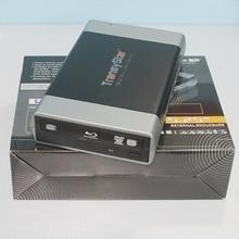 """ภายนอกอลูมิเนียมแบบพกพา USB 3.0 และ ESATA SATA Enclosure กรณีสำหรับ 5.25 """"CD DVD ROM Burner Writer DVD CD กล่องกรณี"""
