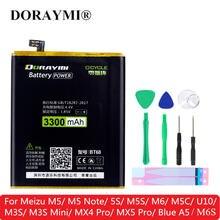 Аккумулятор doraymi для meizu m5 note 5s m5s m6 m6s m5c u10