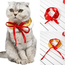Pet-Scarf Clothing-Accessories for New-Year Chinese Spring Festival Pet-Supplies Dog-Bowtie