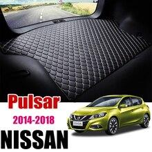 Per Nissan Pulsar C13 2014 2015 2016 2017 2018 tappetino bagagliaio in pelle per auto tappeto coda Cargo Liner Mat Boot Pad Nissan Tiida