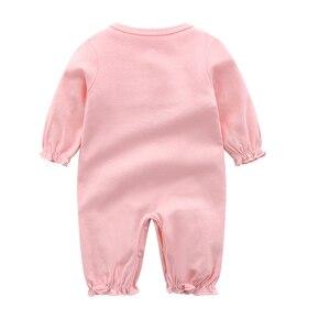 Image 3 - ملابس للأطفال حديثي الولادة من القطن مع ربطة رومبير مع طقم برنات للأطفال حقيبة نوم باللون الأبيض والوردي بشكل عام ملابس للأطفال حديثي الولادة ملابس للأطفال حديثي الولادة 3 متر 6 متر 9 متر 1t هدية