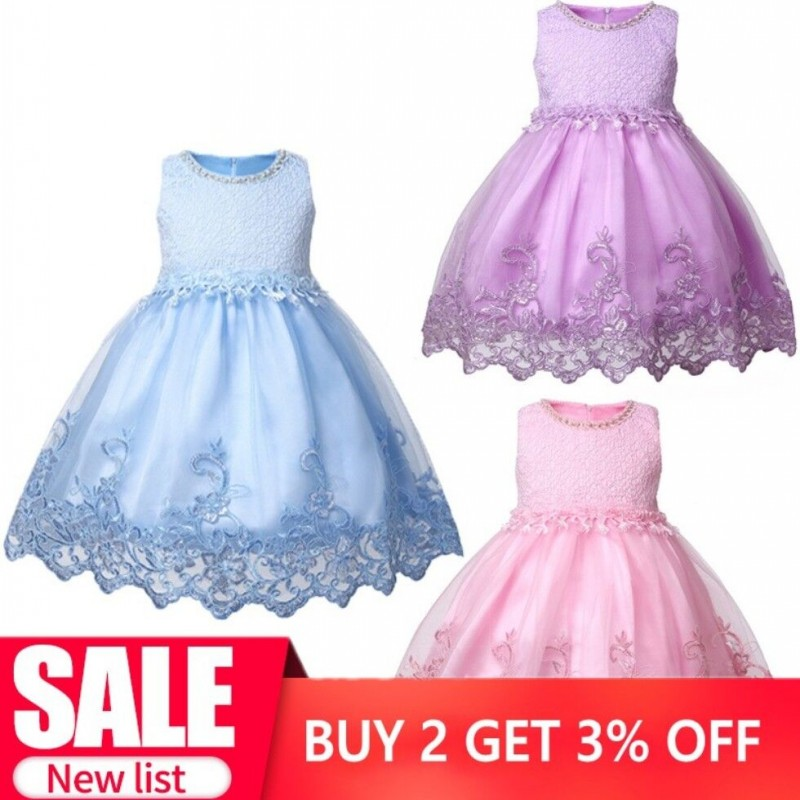 Drop Ship in stock Beautiful Tue Jewel Neckline Ball Gown   Flowers     Girls     Dress   with Lace Applique 3D   Flowers   Baby Party Wear