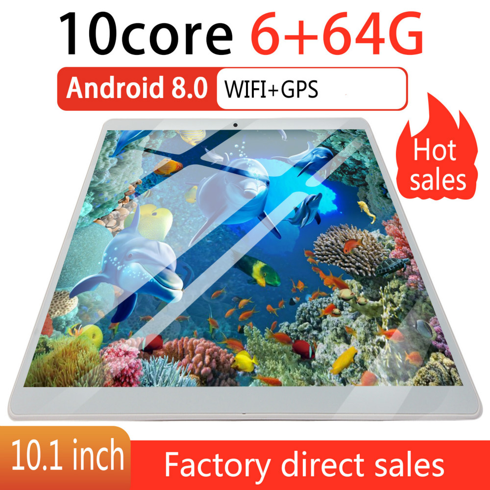 2020   Screen  10 Inch 4G Network WiFi Tablet PC Dual SIM Call Phone Tablet Gifts(RAM 6G+ROM 64G) Tablet Gifts Android 8.0