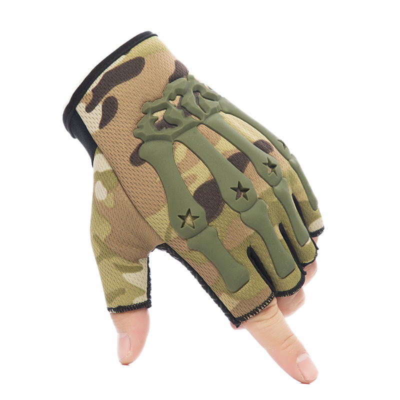 Military Army Tactical Gloves Men's Knuckle Fingerless Gloves Anti-Skid Bicycle Shooting Paintball Motor SWAT Half Finger Gloves