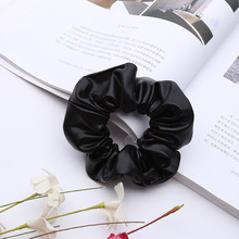 Pu Faux Leather Elastic Hair Ties