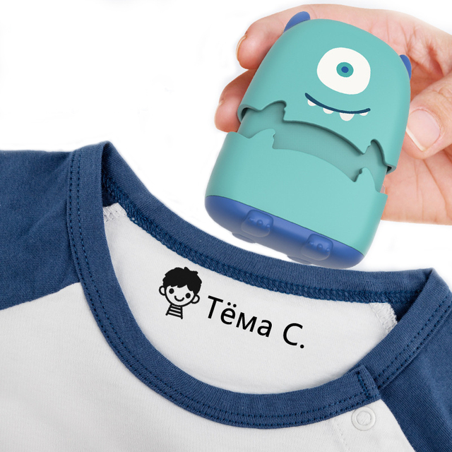 Baby Name Stamp Custom-made DIY Gift for Children Seal Student Clothes Chapter Not Easy to Fade Security Cute Monsters Toy 1