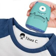 Imię dziecka znaczek na zamówienie DIY prezent dla dzieci pieczęć ubrania studenckie rozdział nie jest łatwy do wyblaknięcia bezpieczeństwo słodkie potwory zabawka