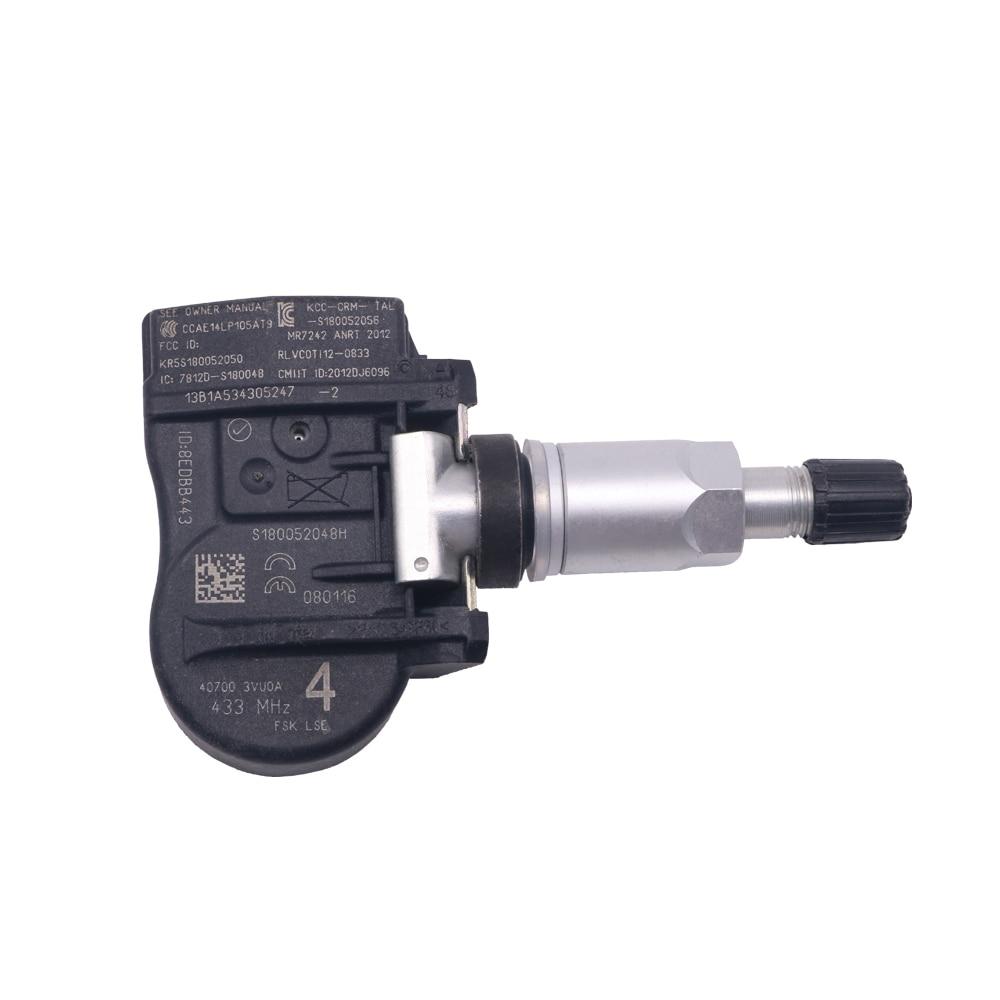 Sensore di Pressione Pneumatici 4pcs Set della Pressione dei Pneumatici TPMS sensore 407009322R for la Renault 40700-9322R per lispezione degli Pneumatici Color : Black