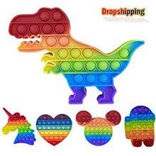 Empurrar Bolha Fidget Brinquedos Autismo Antiestresse Apaziguador do esforço de Necessidades Especiais Brinquedos Filhos Adultos Brinquedos Juguetes Presente Aparece Ele Figet