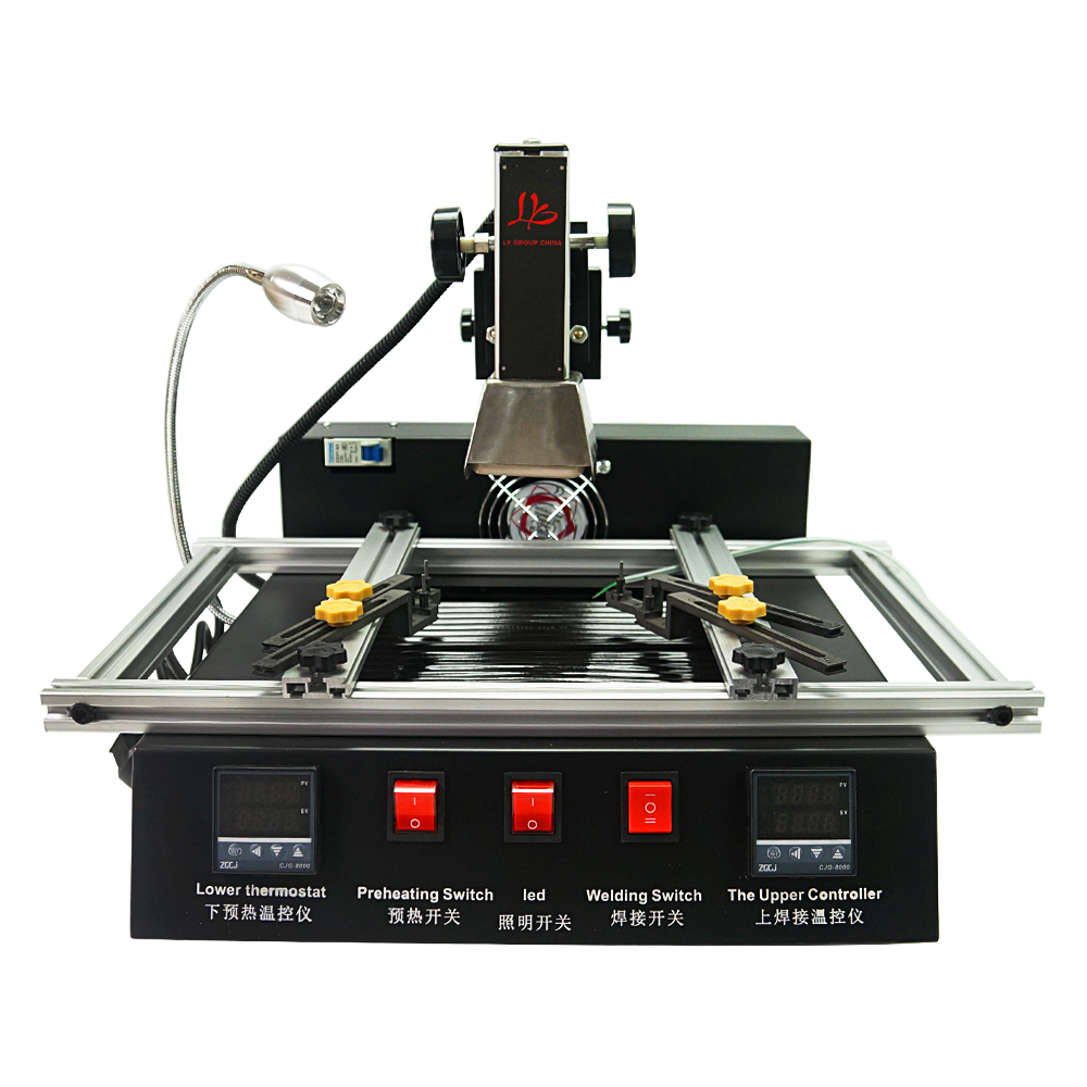 Hot air smd soldering station bga rework station ir model ly m770 220V 2 zones manual operation 1900W  automatic