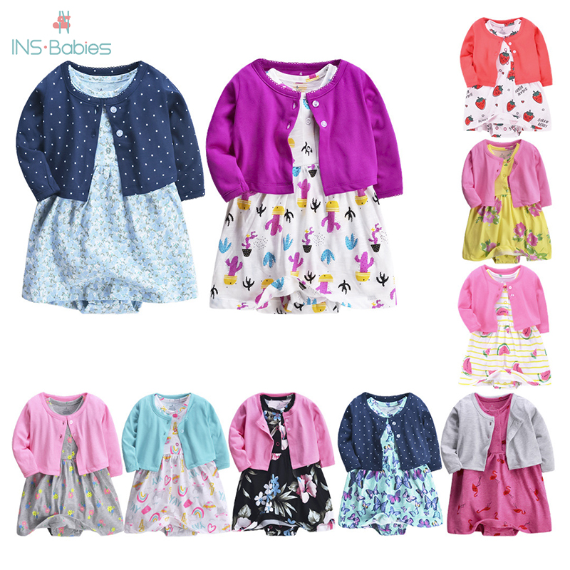 Girl Baby Clothing Newborn Baby Girls Clothes 2 Pcs My First Christmas Cotton Newborn Set Princess New Year Infant Girl Clothing