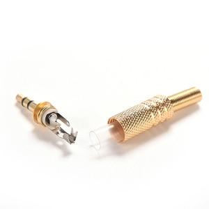 Image 4 - 5pcs 3.5mm Stereo Audio Jack Plug Mini 1/8Inch Jack Plug Headphone Male Plug Coax Cable Audio Adapter Connecter Soldering