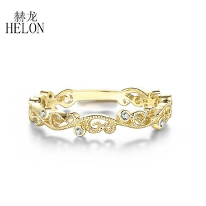 HELON Solid 10k Yellow Gold SI