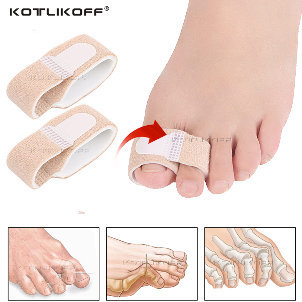 2Pcs Toe Separator Strap For Toe Overlapping Thumb Valgus Reduce Foot Thumb Extrusion Heel Pad Toe Correction Strap Insert